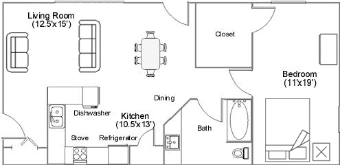 Countryview Apartments floor plan 3