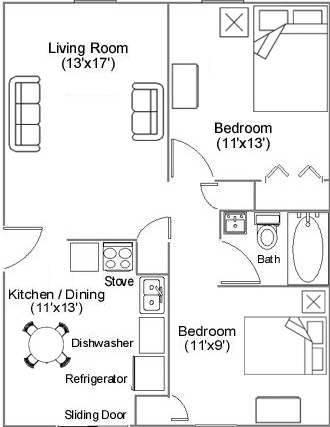 Countryview Apartments floor plan 1