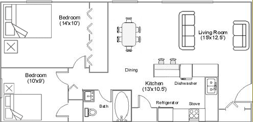 Countryview Apartments floor plan 2